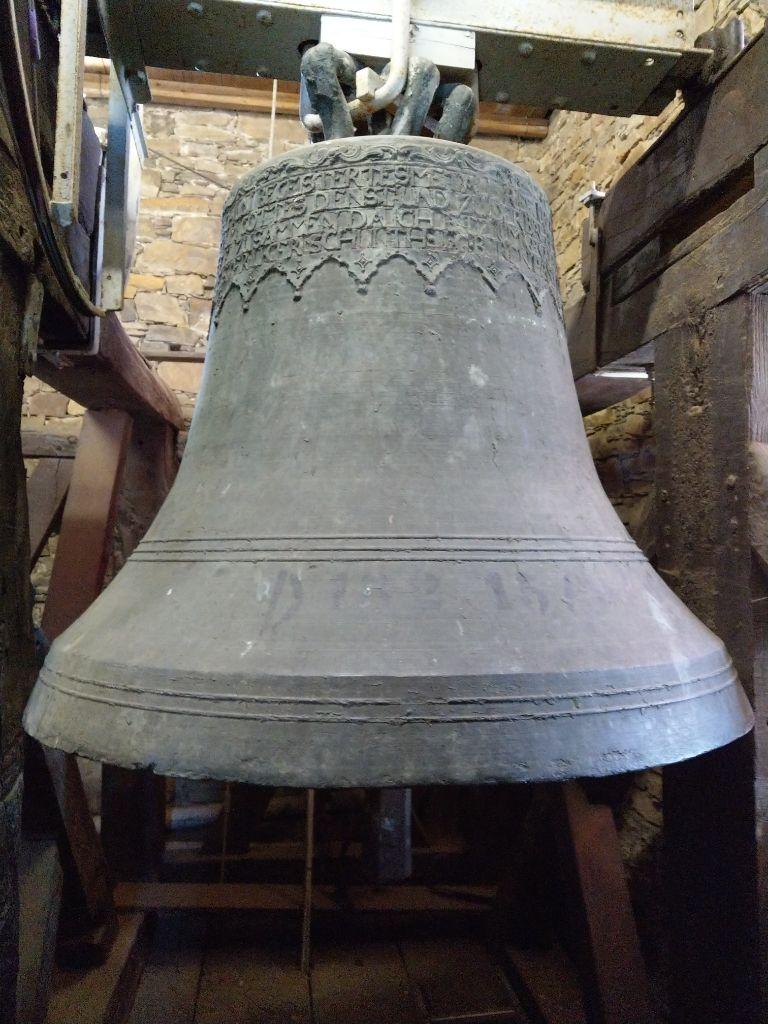 """Die große Glocke (""""Sturmglocke"""") von vorne, Foto: Bärbel Dittrich"""