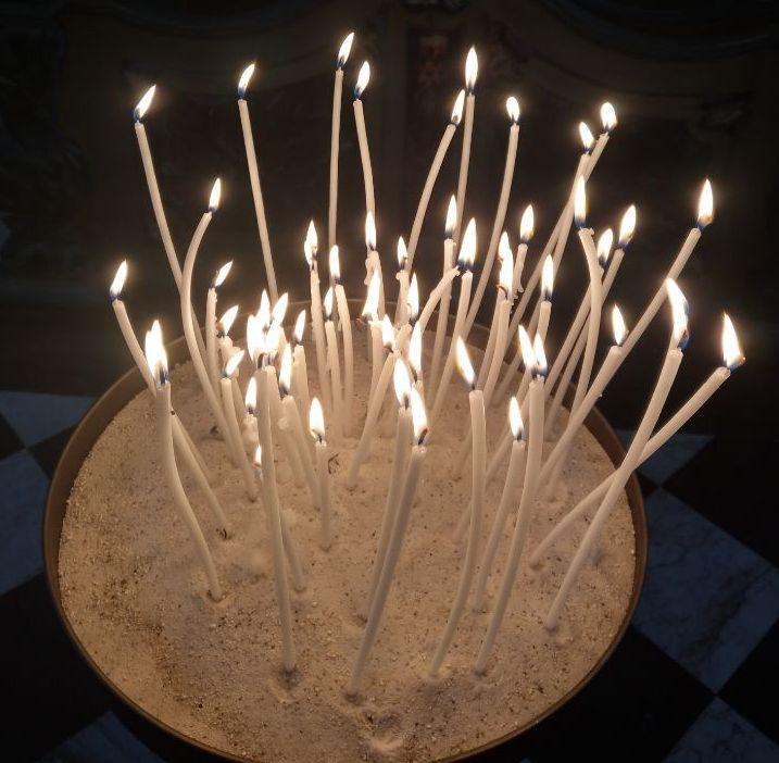 Kerzen am Ewigkeitssonntag 2020, Foto: Bärbel Dittrich