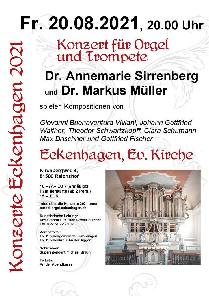 2021-08-20 Konzert Dr. Annemarie Sirrenberg & Dr. Markus Müller
