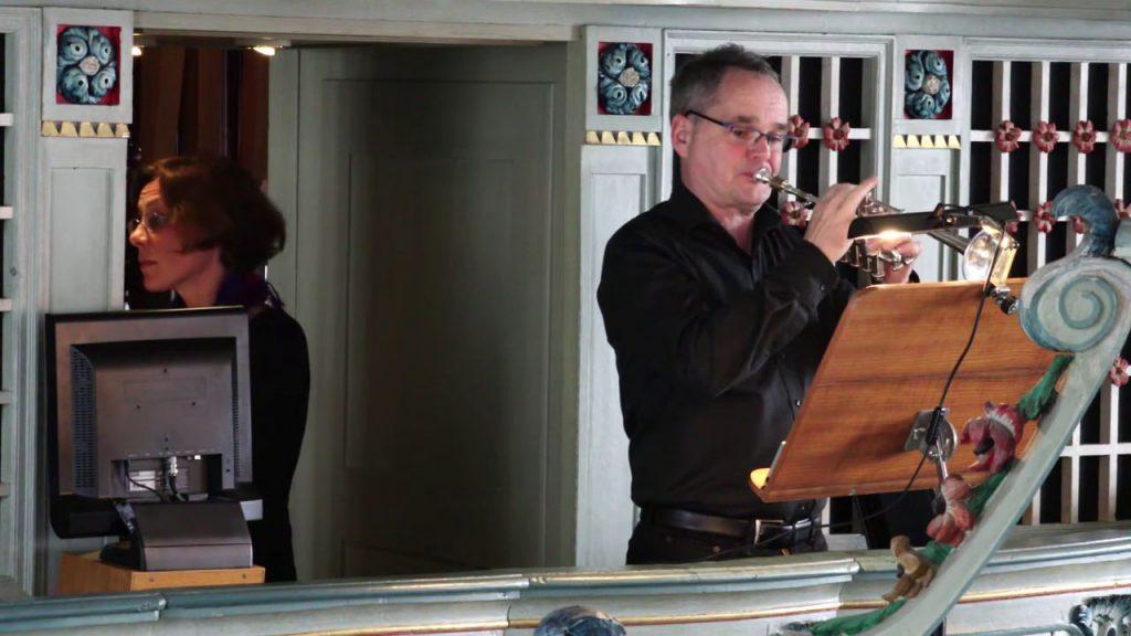 Dr. Annemarie Sirrenberg (Orgel) und Dr. Markus Müller (Trompete)